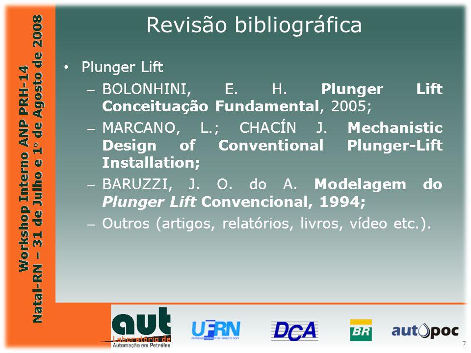 Workshop Interno ANP PRH-14 Natal-RN – 31 de Julho e 1° de Agosto de 2008 7 Plunger Lift – BOLONHINI, E. H. Plunger Lift Conceituação Fundamental, 200