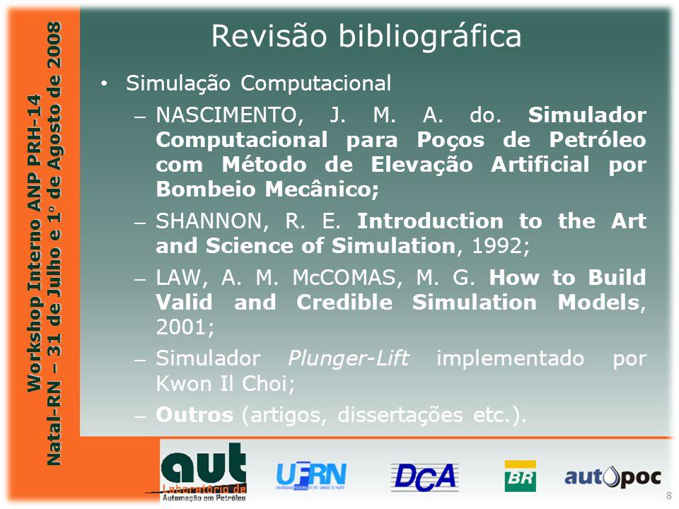 Workshop Interno ANP PRH-14 Natal-RN – 31 de Julho e 1° de Agosto de 2008 8 Simulação Computacional – NASCIMENTO, J. M. A. do. Simulador Computacional