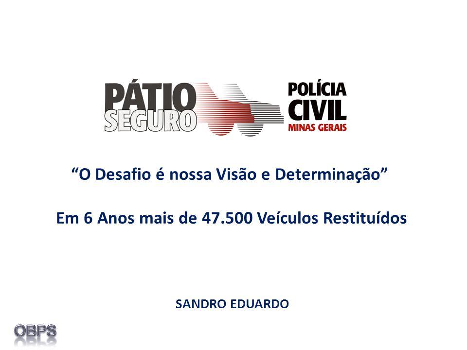SANDRO EDUARDO O Desafio é nossa Visão e Determinação Em 6 Anos mais de 47.500 Veículos Restituídos