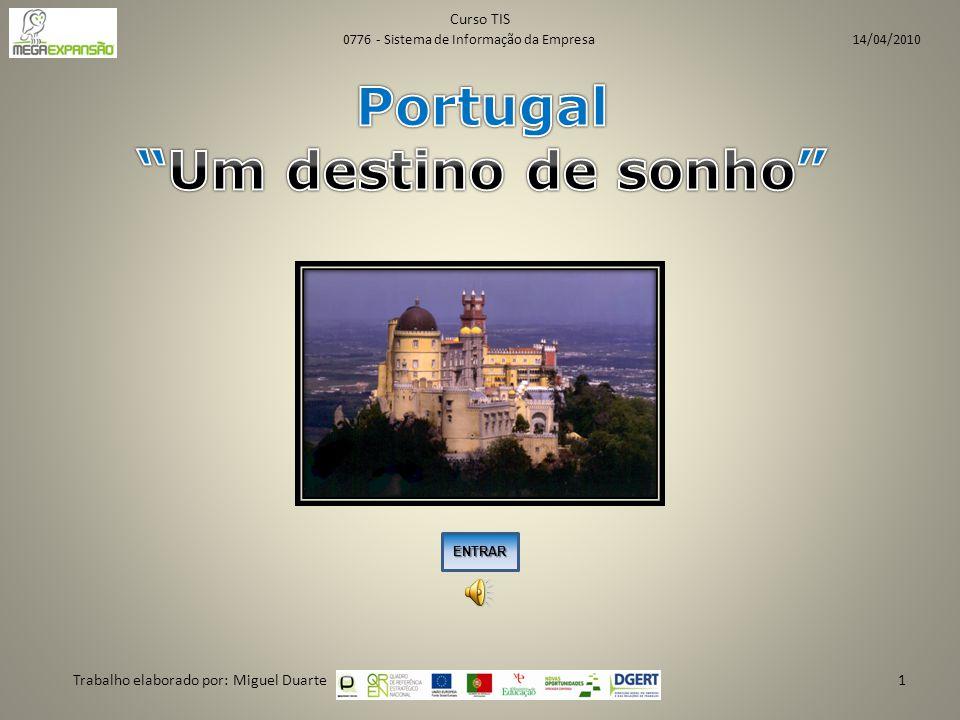Curso TIS 1Trabalho elaborado por: Miguel Duarte EEEE NNNN TTTT RRRR AAAA RRRR 0776 - Sistema de Informação da Empresa 14/04/2010