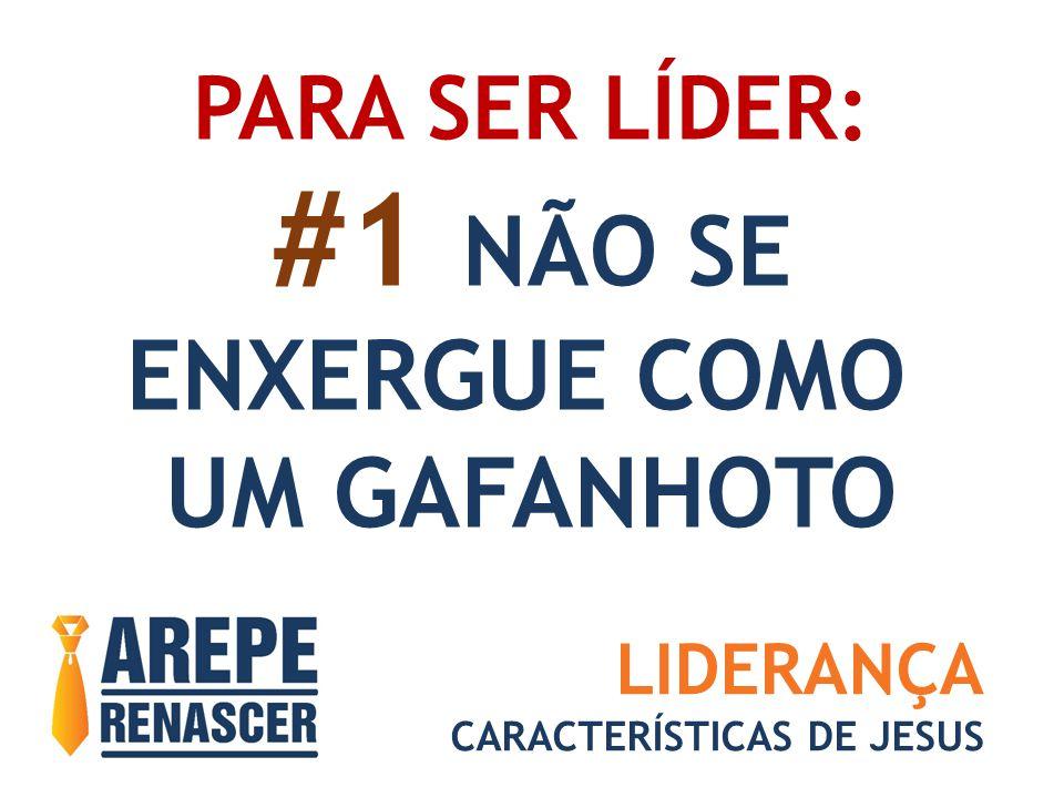 PARA SER LÍDER: #1 NÃO SE ENXERGUE COMO UM GAFANHOTO LIDERANÇA CARACTERÍSTICAS DE JESUS