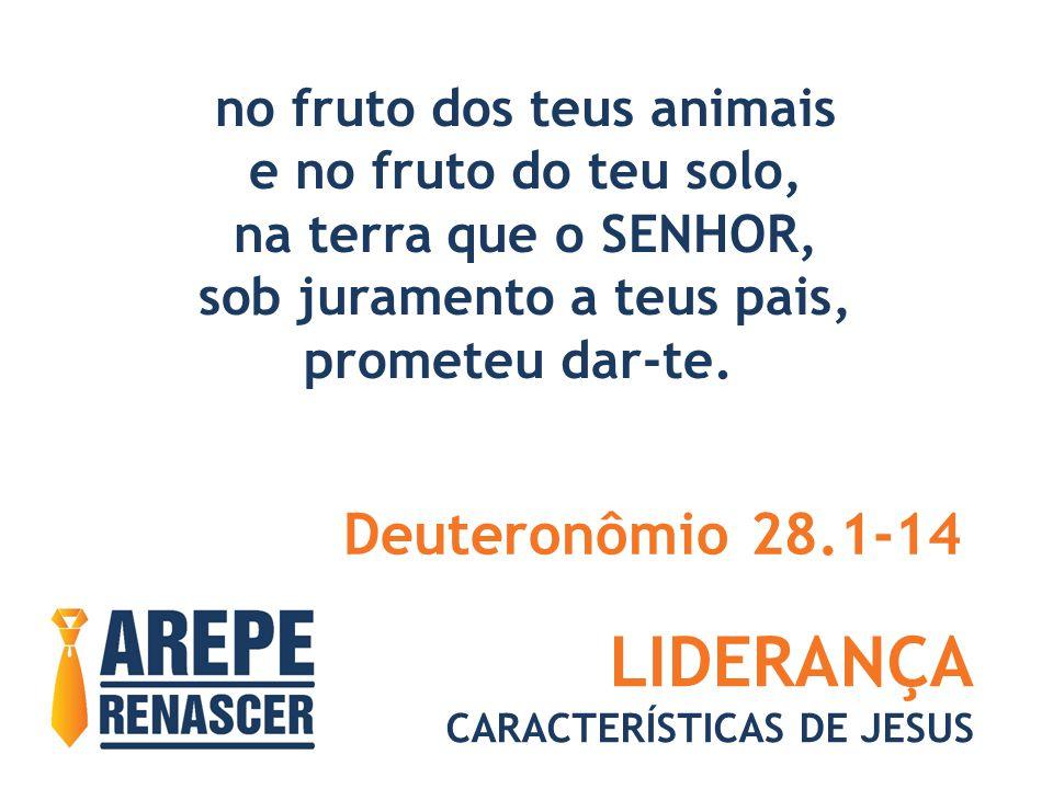 LIDERANÇA CARACTERÍSTICAS DE JESUS no fruto dos teus animais e no fruto do teu solo, na terra que o SENHOR, sob juramento a teus pais, prometeu dar-te.