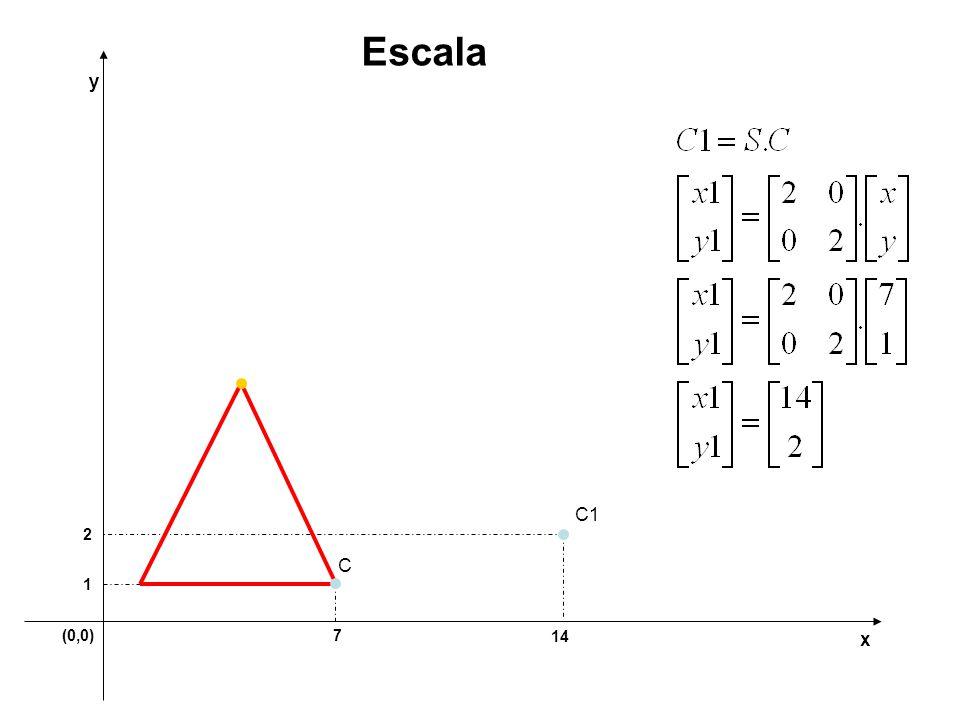 (0,0)7 1 y x Escala C C1 2 14