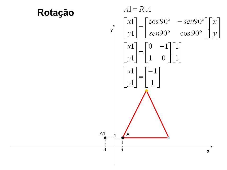 1 1 y x Rotação A A1