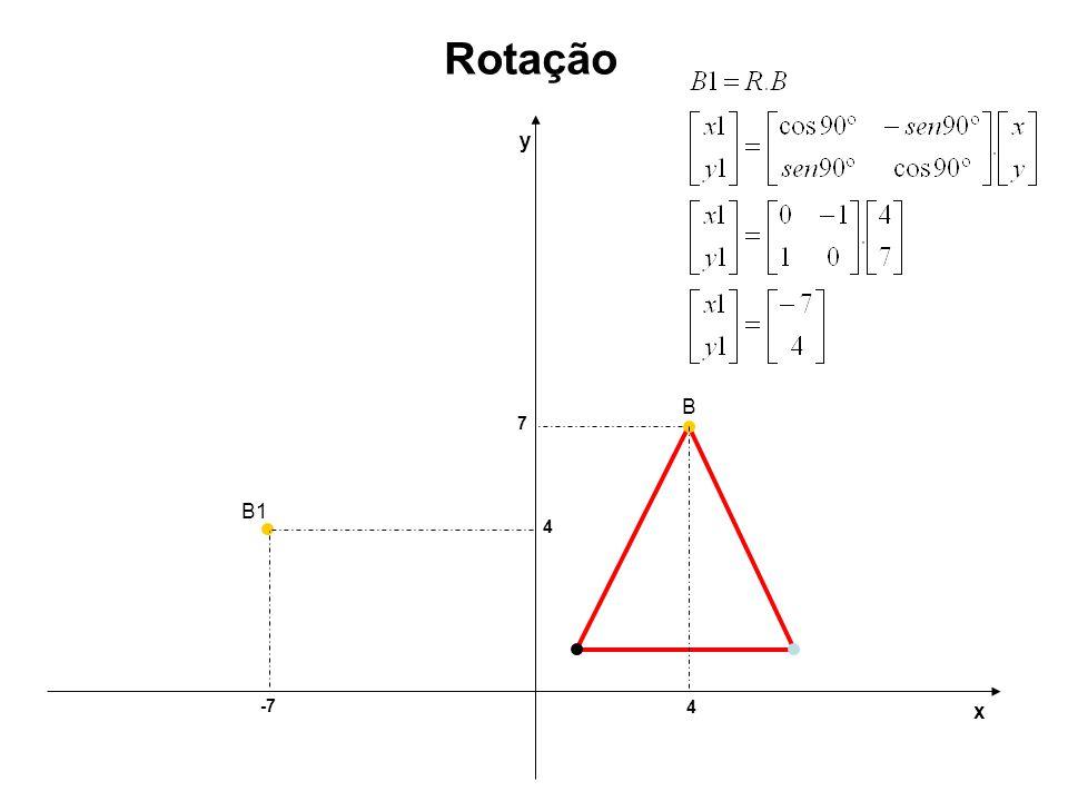 4 7 y x Rotação -7 B B1 4