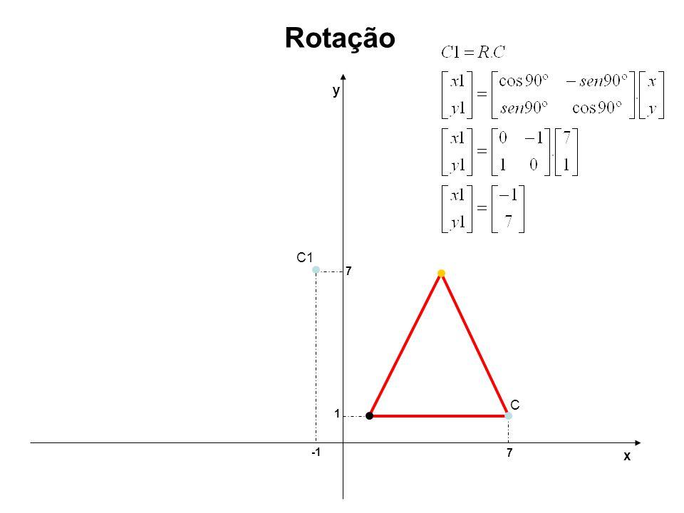 7 1 y x Rotação C C1 7