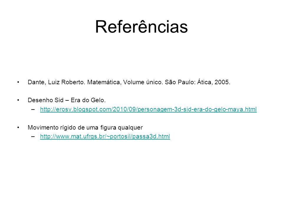 Referências Dante, Luiz Roberto. Matemática, Volume único. São Paulo: Ática, 2005. Desenho Sid – Era do Gelo. –http://erosv.blogspot.com/2010/09/perso