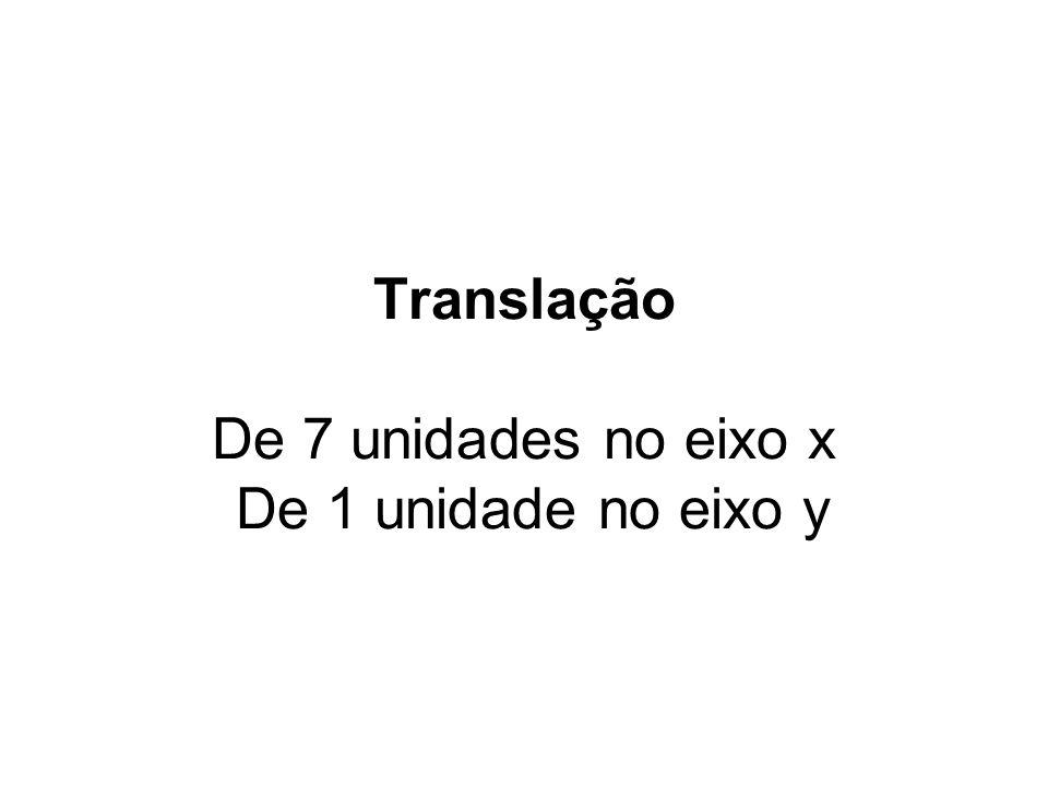 (0,0)1 1 y x Translação 8 A A1 2