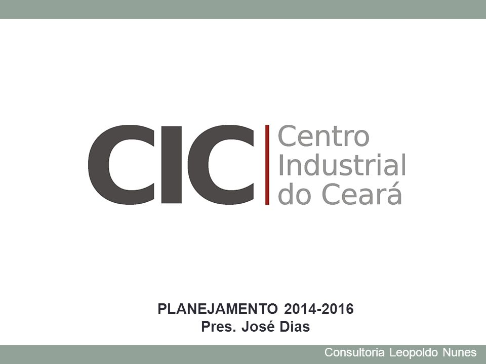 Consultoria Leopoldo Nunes PLANEJAMENTO 2014-2016 Pres. José Dias