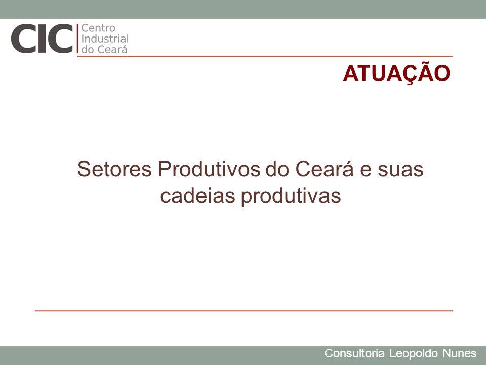 Consultoria Leopoldo Nunes ATUAÇÃO Setores Produtivos do Ceará e suas cadeias produtivas