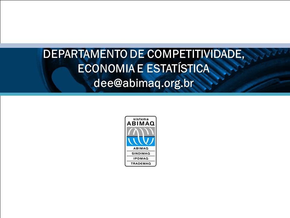 DEPARTAMENTO DE COMPETITIVIDADE, ECONOMIA E ESTATÍSTICA dee@abimaq.org.br