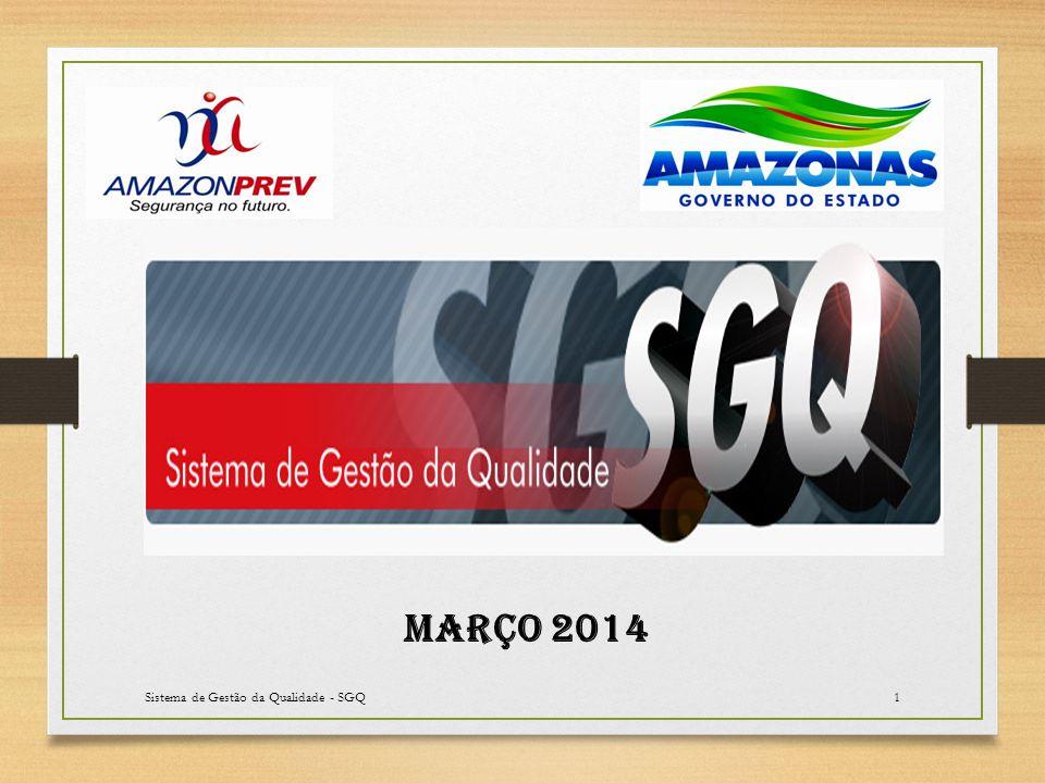 Sistema de Gestão da Qualidade - SGQ2 Os indicadores de março foram concluídos tendo por base 18 dias trabalhados.