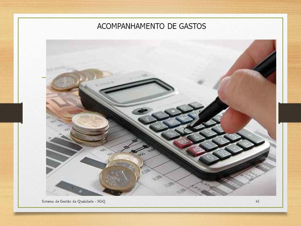Sistema de Gestão da Qualidade - SGQ43 ACOMPANHAMENTO DE GASTOS