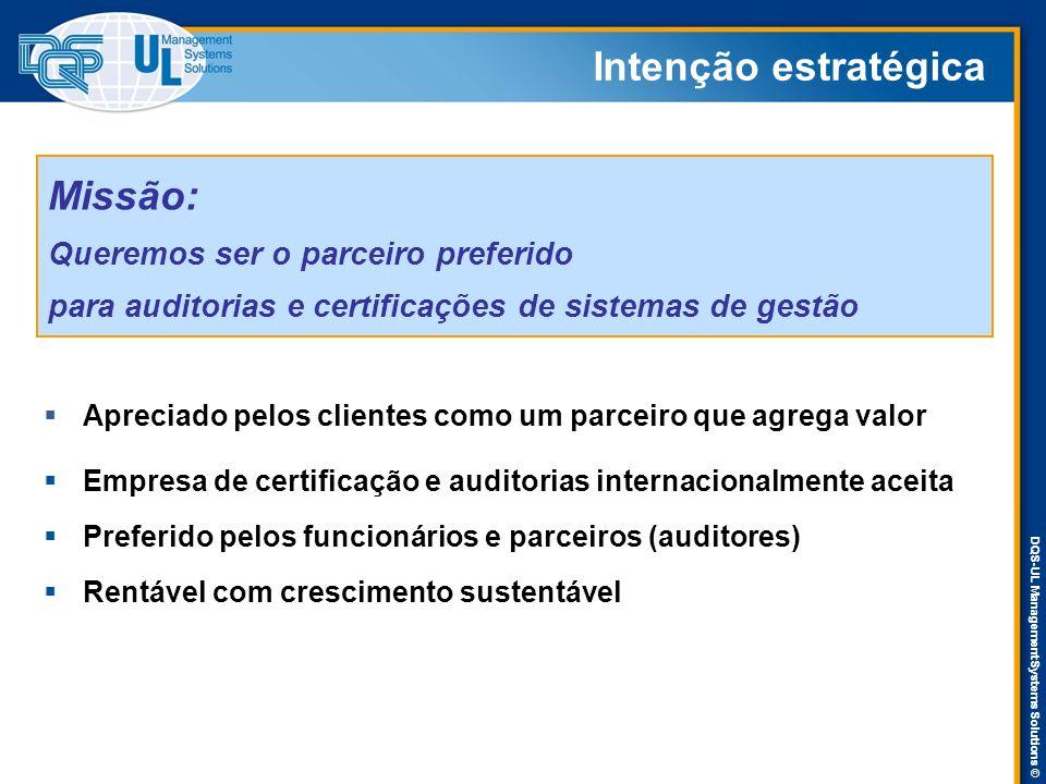 DQS-UL Management Systems Solutions ©  Empresa de certificação e auditorias internacionalmente aceita  Preferido pelos funcionários e parceiros (aud