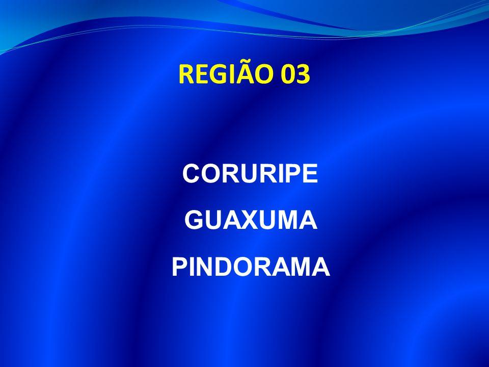 REGIÃO 03 CORURIPE GUAXUMA PINDORAMA