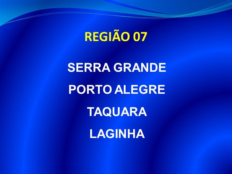 REGIÃO 07 SERRA GRANDE PORTO ALEGRE TAQUARA LAGINHA