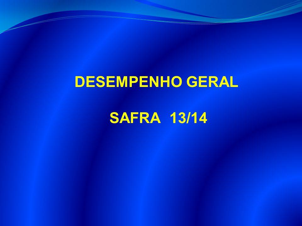 DESEMPENHO GERAL SAFRA 13/14