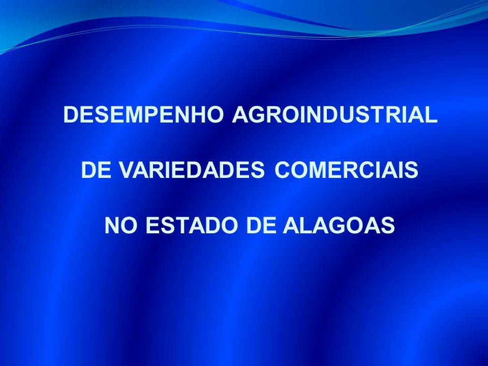 DESEMPENHO AGROINDUSTRIAL DE VARIEDADES COMERCIAIS NO ESTADO DE ALAGOAS