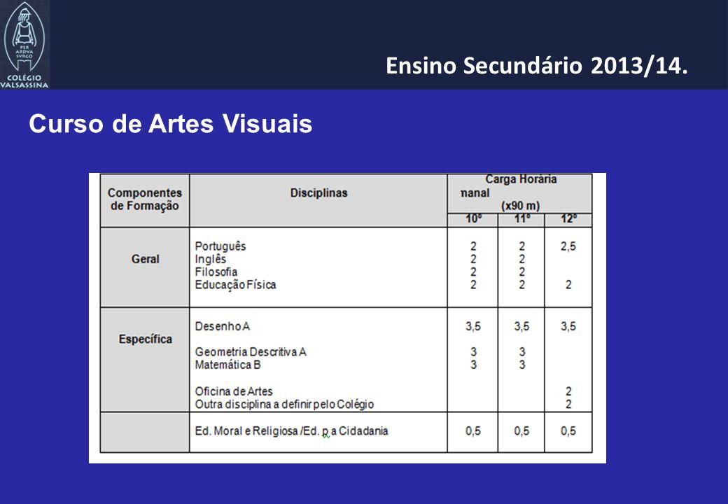 Curso de Artes Visuais Ensino Secundário 2013/14.