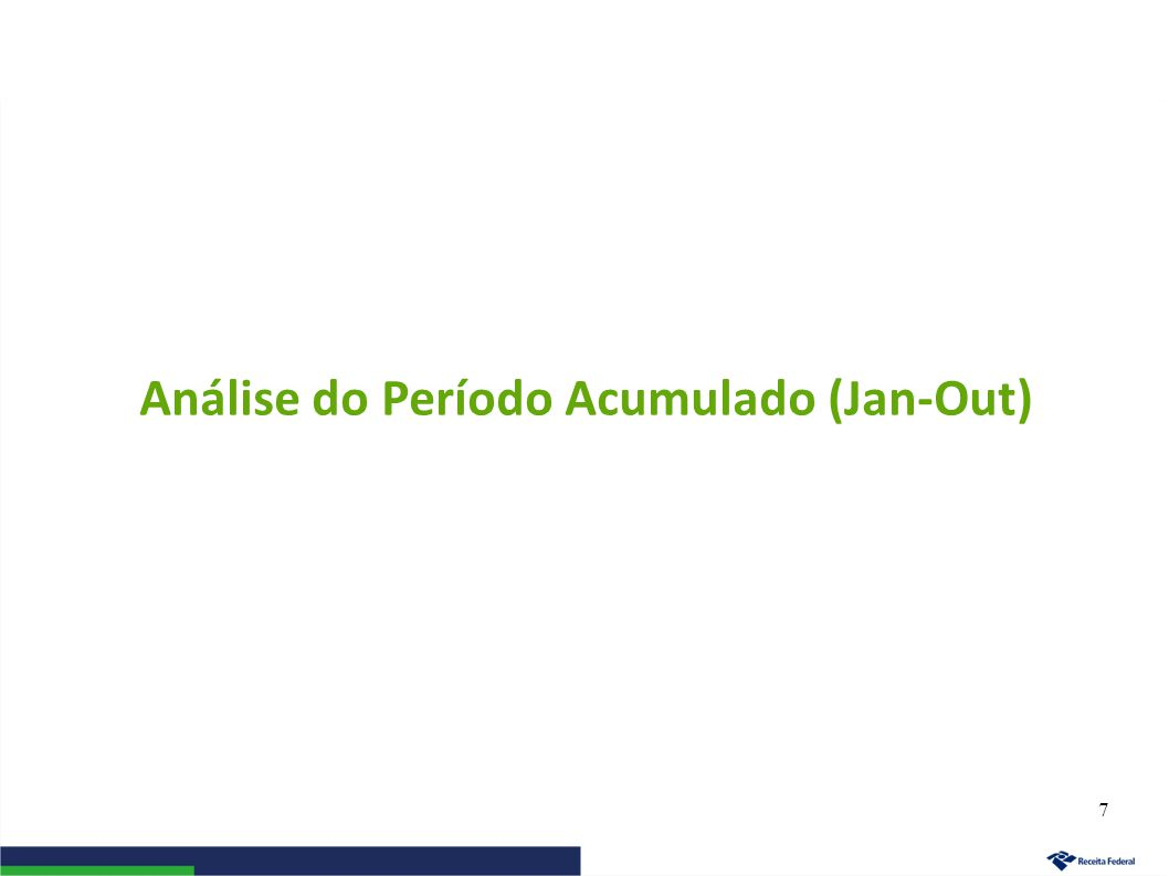 Análise do Período Acumulado (Jan-Out) 7