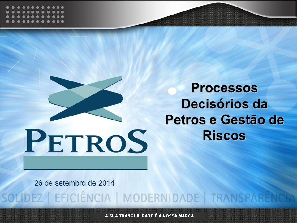 A SUA TRANQUILIDADE É A NOSSA MARCA Mar/20111 26 de setembro de 2014 Processos Decisórios da Petros e Gestão de Riscos