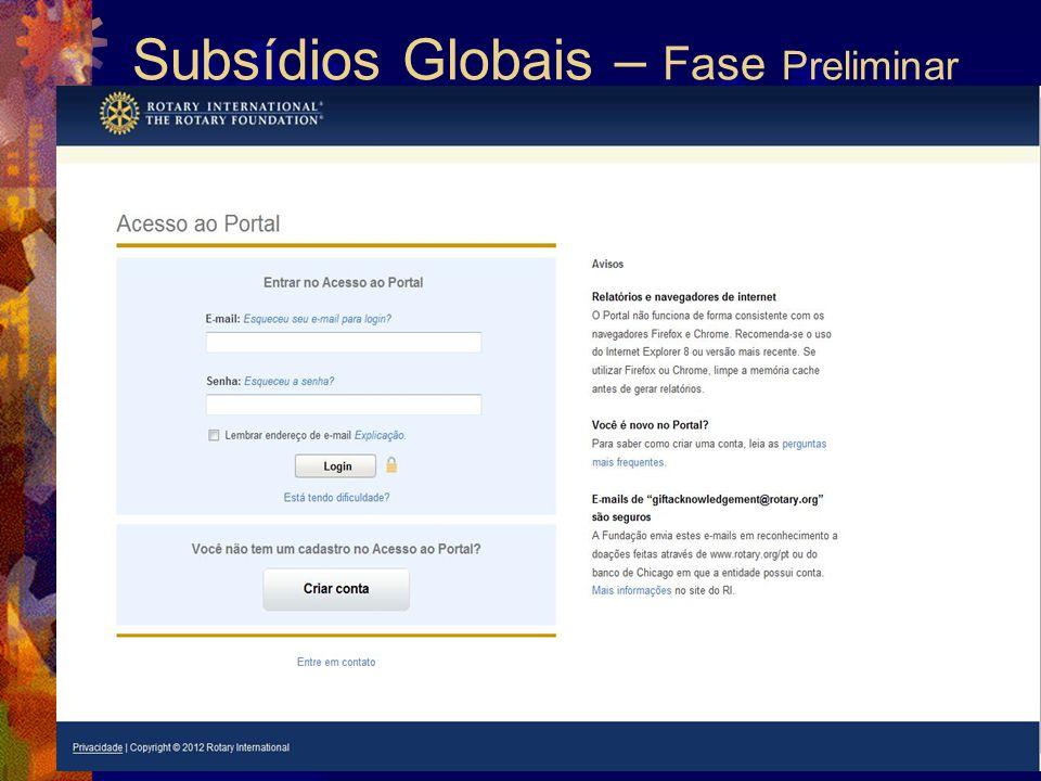 Subsídios Globais – Fase Preliminar 23