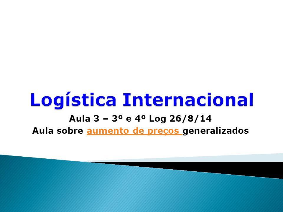 Aula 3 – 3º e 4º Log 26/8/14 Aula sobre aumento de preços generalizadosaumento de preços