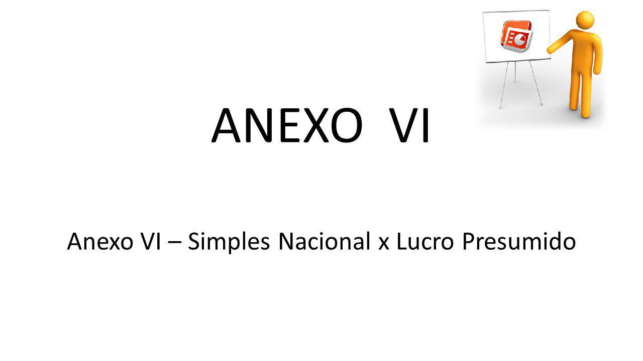 ANEXO VI Anexo VI – Simples Nacional x Lucro Presumido
