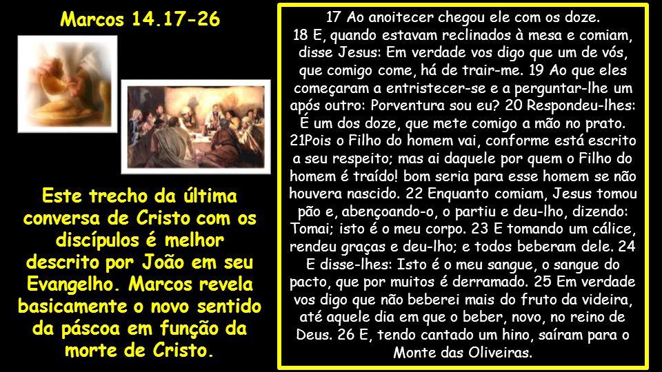 27 Disse-lhes então Jesus: Todos vós vos escandalizareis; porque escrito está: Ferirei o pastor, e as ovelhas se dispersarão.