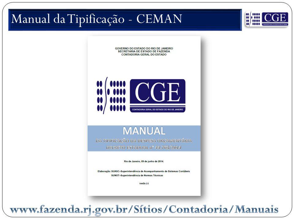 Manual da Tipificação - CEMAN