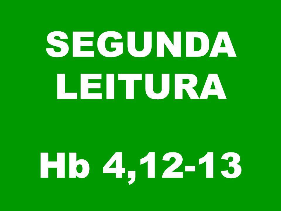 SEGUNDA LEITURA Hb 4,12-13
