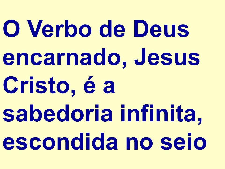 O Verbo de Deus encarnado, Jesus Cristo, é a sabedoria infinita, escondida no seio