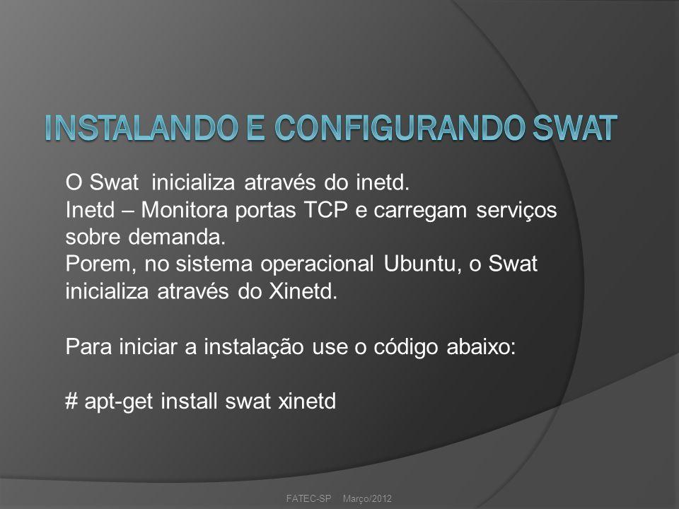FATEC-SP Março/2012 O Swat inicializa através do inetd.