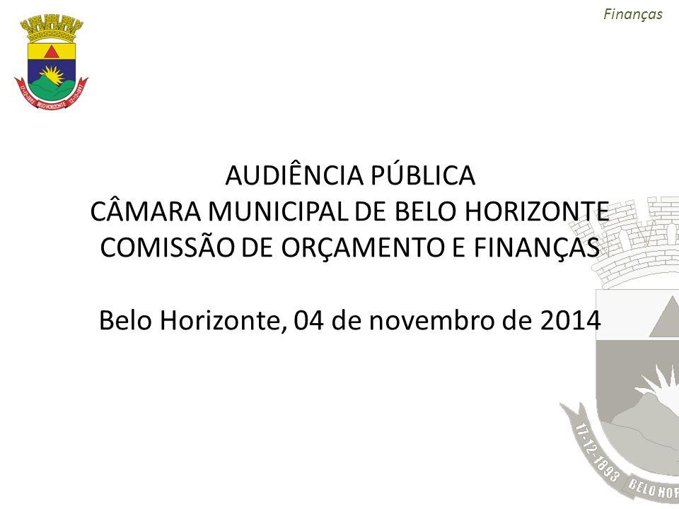 Finanças AUDIÊNCIA PÚBLICA CÂMARA MUNICIPAL DE BELO HORIZONTE COMISSÃO DE ORÇAMENTO E FINANÇAS Belo Horizonte, 04 de novembro de 2014