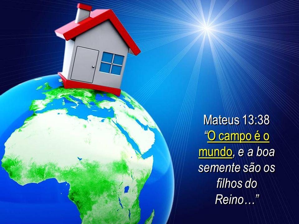 """Mateus 13:38 """" O campo é o mundo, e a boa semente são os filhos do Reino…"""" Mateus 13:38 """" O campo é o mundo, e a boa semente são os filhos do Reino…"""""""
