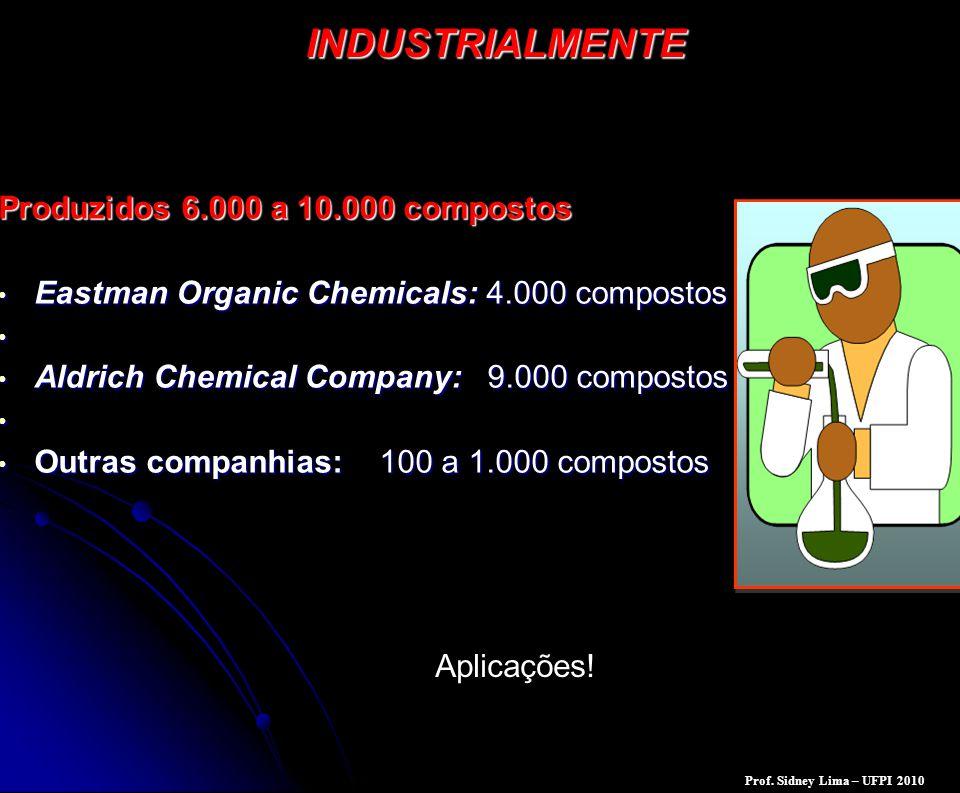 INDUSTRIALMENTE Produzidos 6.000 a 10.000 compostos Eastman Organic Chemicals: 4.000 compostos Eastman Organic Chemicals: 4.000 compostos Aldrich Chem