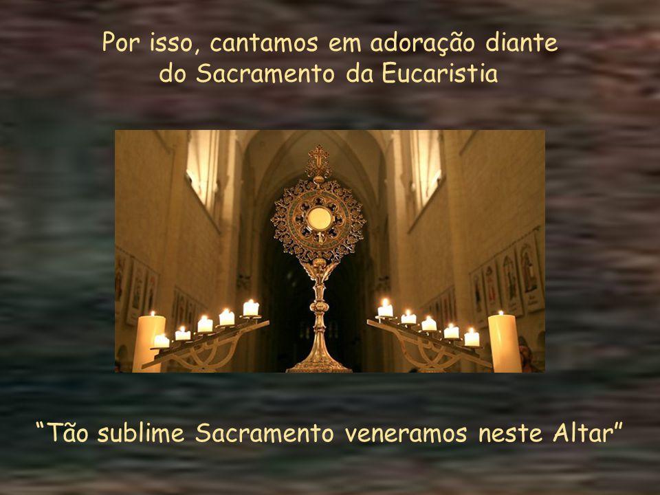 O vinho e a hóstia que são consagrados pelo sacerdote investido do Poder de Cristo tornam-se, em verdade, o Seu Corpo, Sangue, Alma e Divindade. Em ca