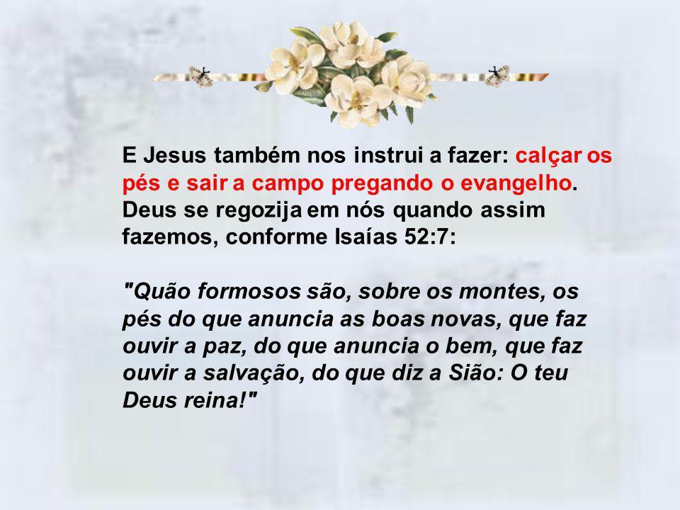 O Calçado da pregação do Evangelho Efésios 6:15