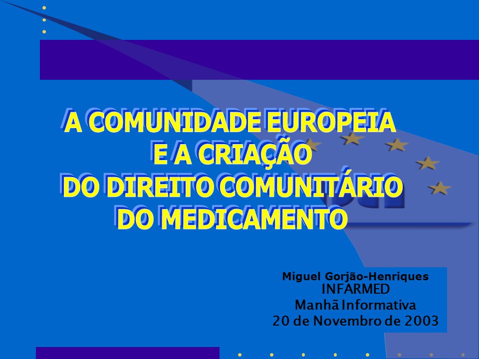  Artigo 251.º do Tratado CE  Ao contrário do que o Tratado inculca, nomeadamente no artigo 95.º, não é o Conselho que decide  Procedimento que envolve os três órgãos:  Comissão  Parlamento Europeu  Conselho Procedimento de co-decisão - descrição -