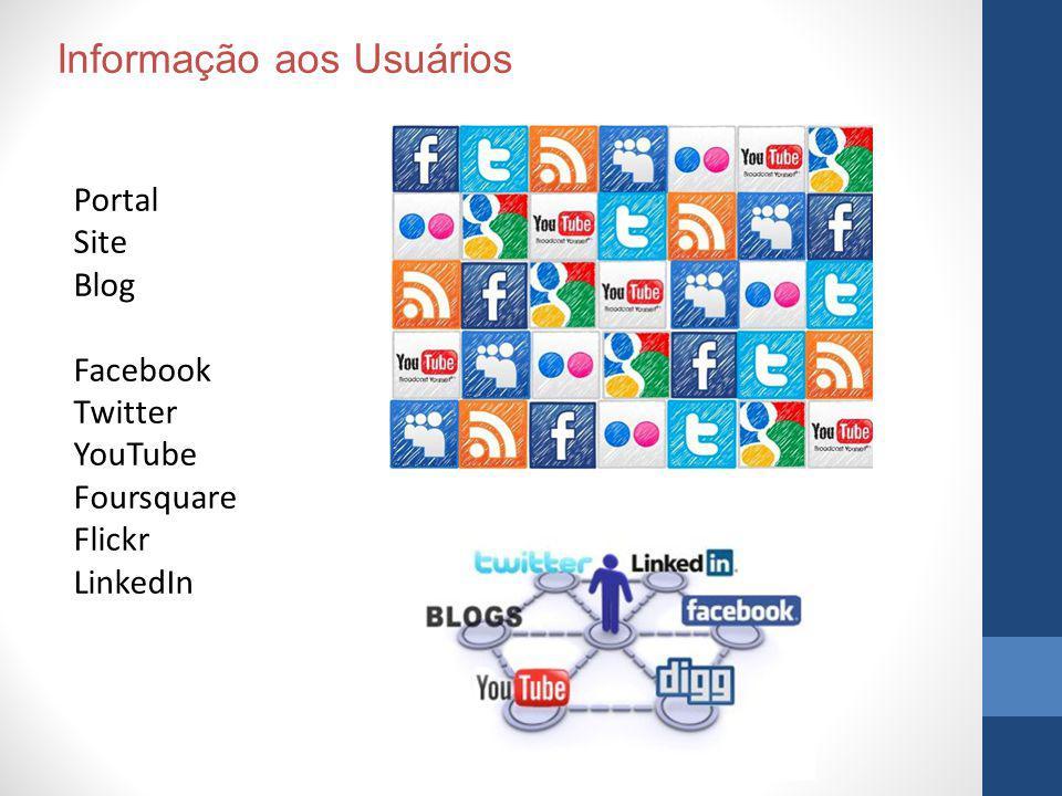 Portal Site Blog Facebook Twitter YouTube Foursquare Flickr LinkedIn Informação aos Usuários