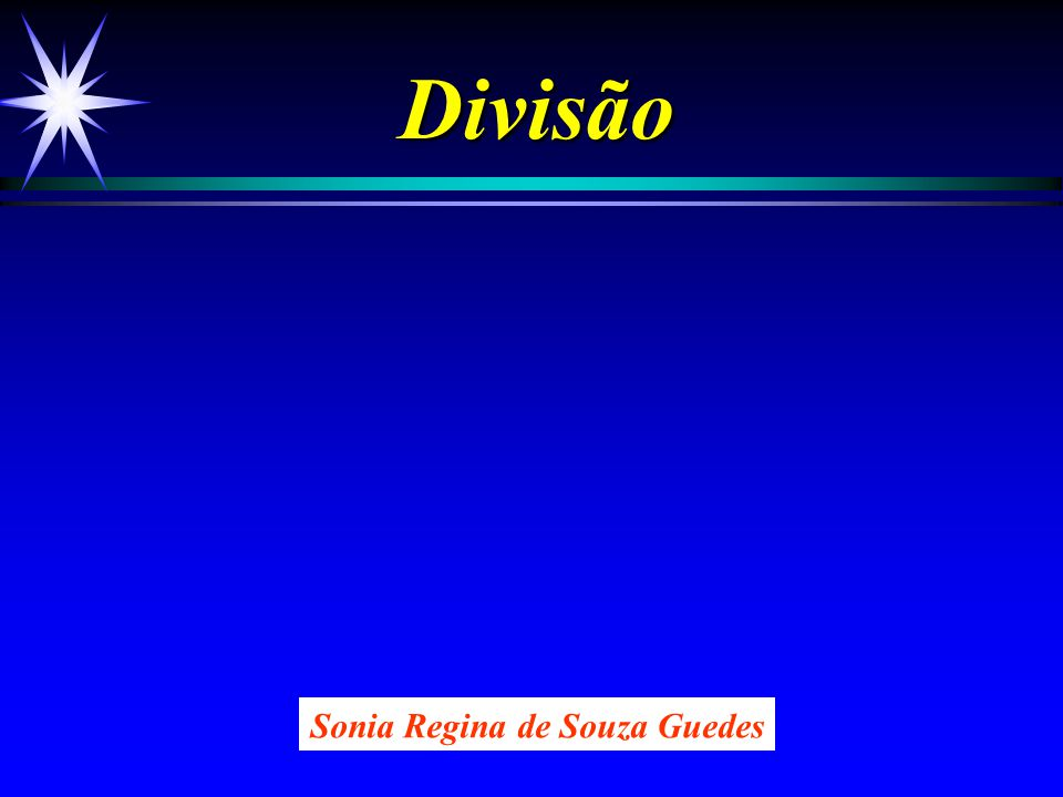 Divisão Sonia Regina de Souza Guedes