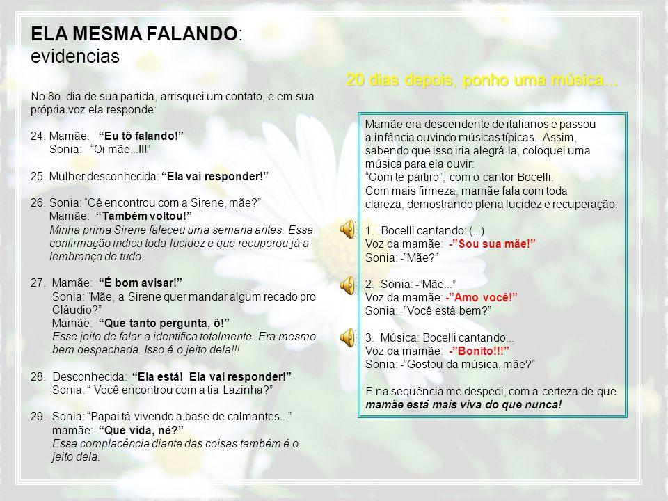 ELA MESMA FALANDO: evidencias No 8o.