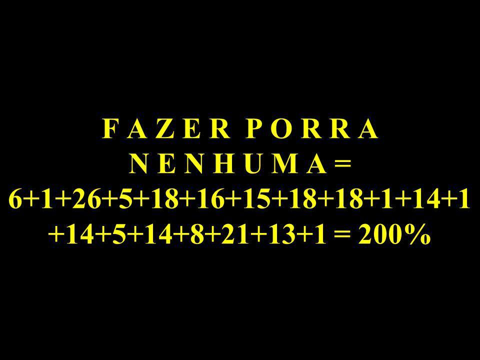 A T I T U D E S = 1+20+9+20+21+4+5+19 = 99%