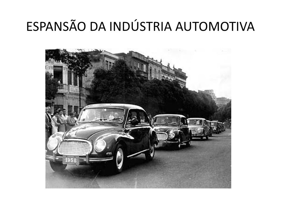 ESPANSÃO DA INDÚSTRIA AUTOMOTIVA