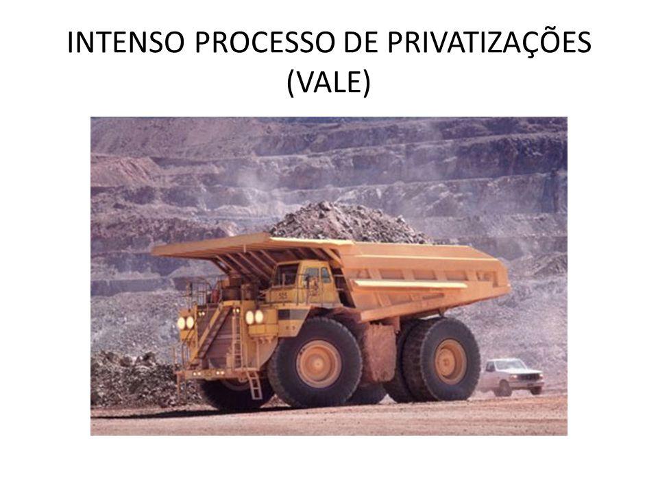INTENSO PROCESSO DE PRIVATIZAÇÕES (VALE)