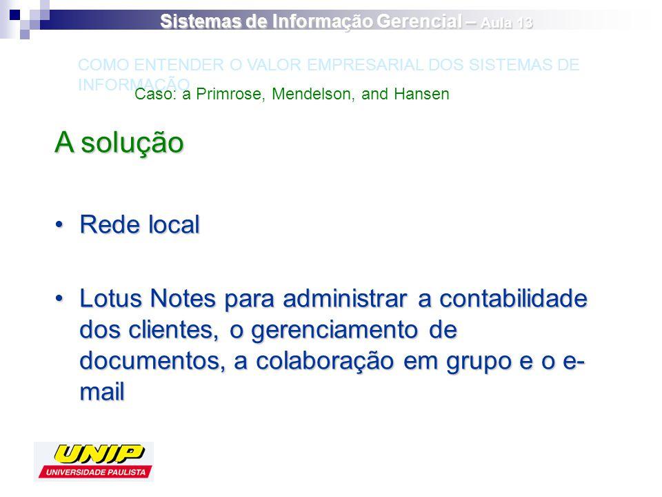 A solução Rede localRede local Lotus Notes para administrar a contabilidade dos clientes, o gerenciamento de documentos, a colaboração em grupo e o e-
