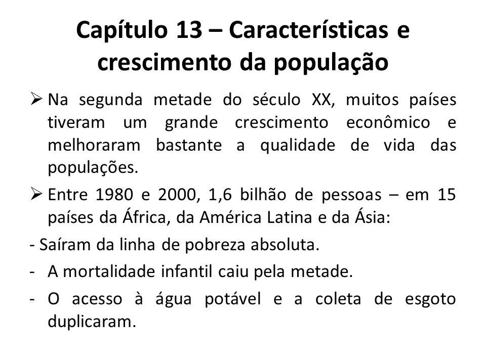  Na segunda metade do século XX, muitos países tiveram um grande crescimento econômico e melhoraram bastante a qualidade de vida das populações.  En