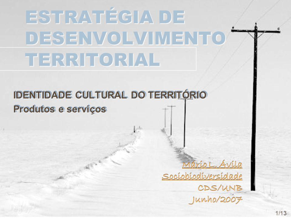 ESTRATÉGIA DE DESENVOLVIMENTO TERRITORIAL IDENTIDADE CULTURAL DO TERRITÓRIO Produtos e serviços IDENTIDADE CULTURAL DO TERRITÓRIO Produtos e serviços