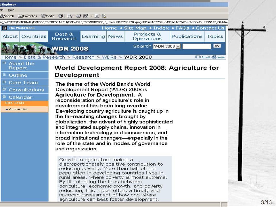 http://www.worldbank.org/wdr2008 3/13