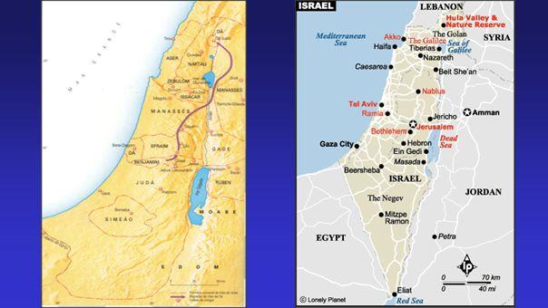 Destaques em Josué 13-17 Josué partilha a terra ocidental entre as nove tribos e meia remanescentes.